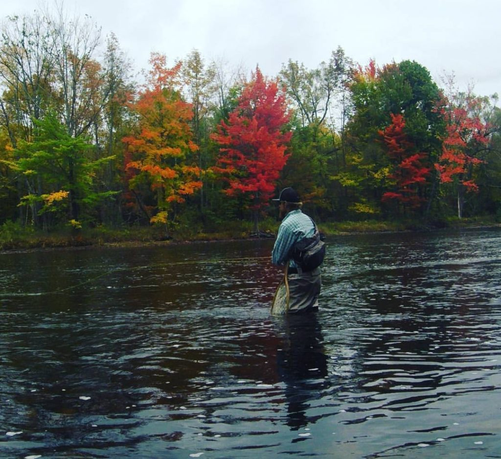 River Fly Fishing Foliage Vermont New York