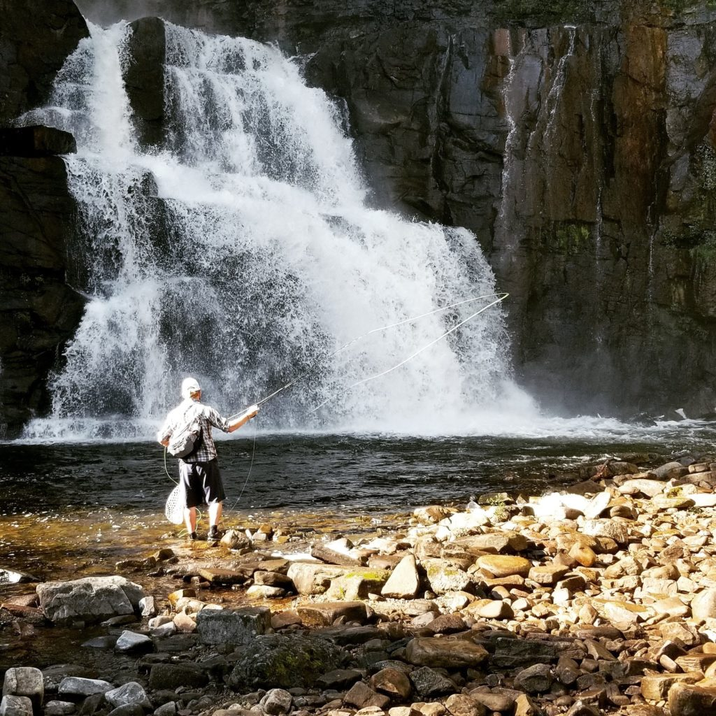 fly fishing, waterfall, vermont new york trout, fly fishing guides vermont and new york