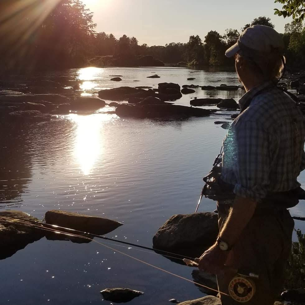 Sunset, River, Fly Fishing, vermont new york fly fishing guides